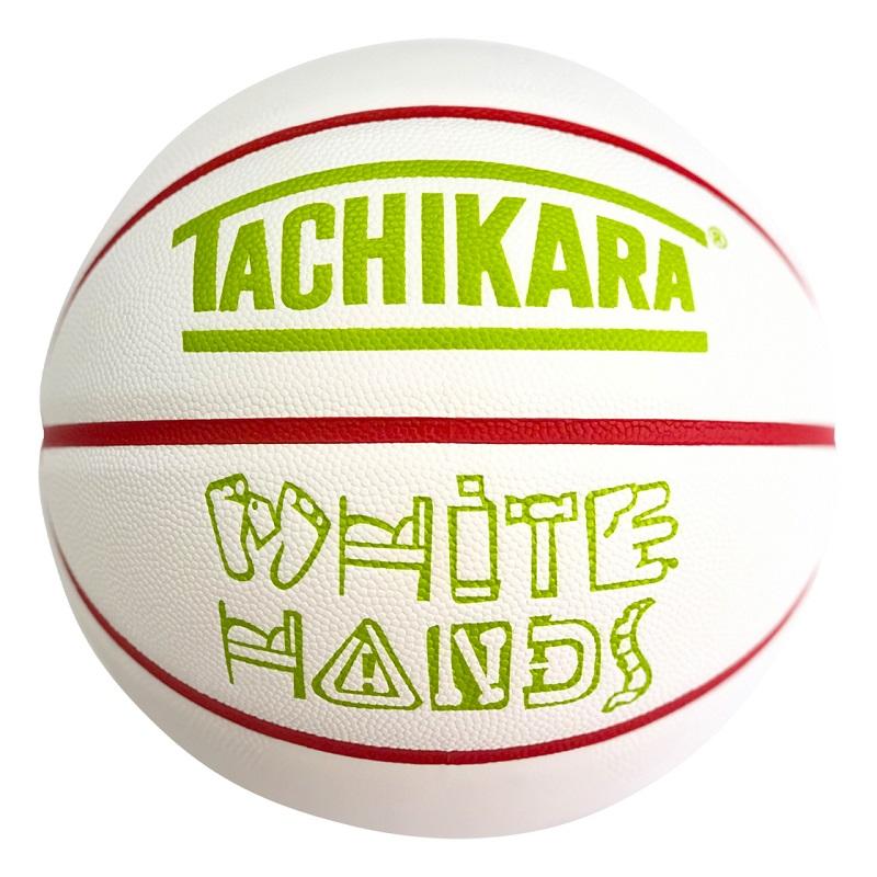 【7号球】【バスケットボール】TACHIKARA BASKETBALL タチカラ ボール  ホワイトハンズ WHITE HANDS SB7-249 メンズ レディース キッズ ホワイト/レッド/ライムグリーン ホワイト系