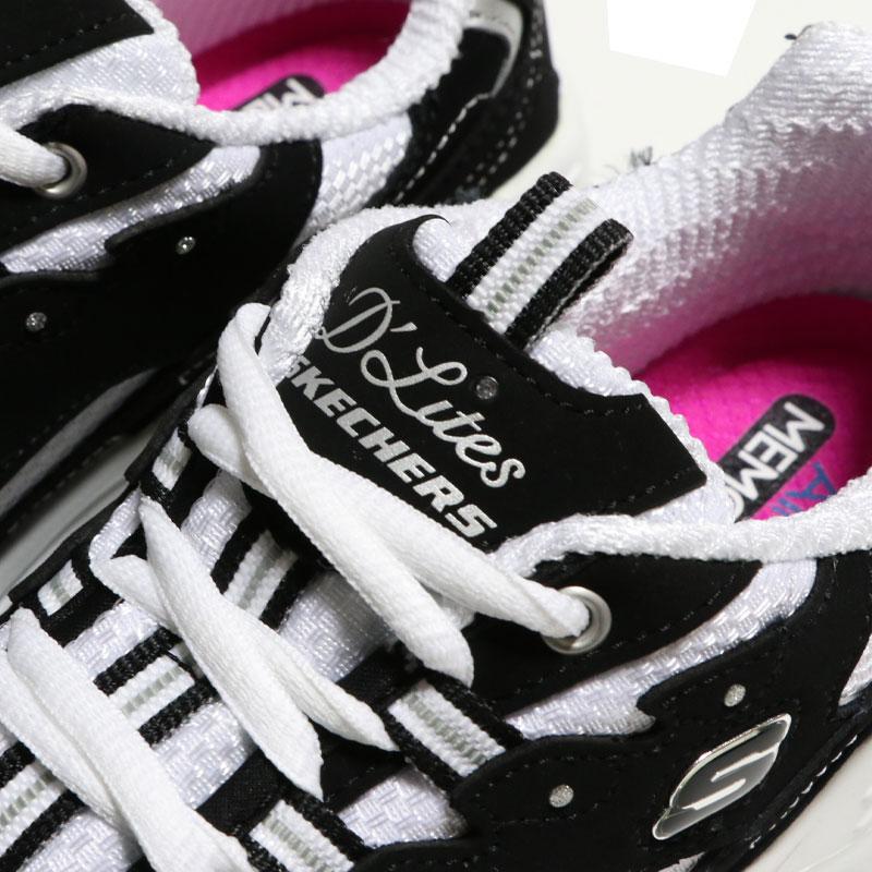SKECHERS スケッチャーズ D'LITES - BIGGEST FAN ディーライト Black White 11930-BKW
