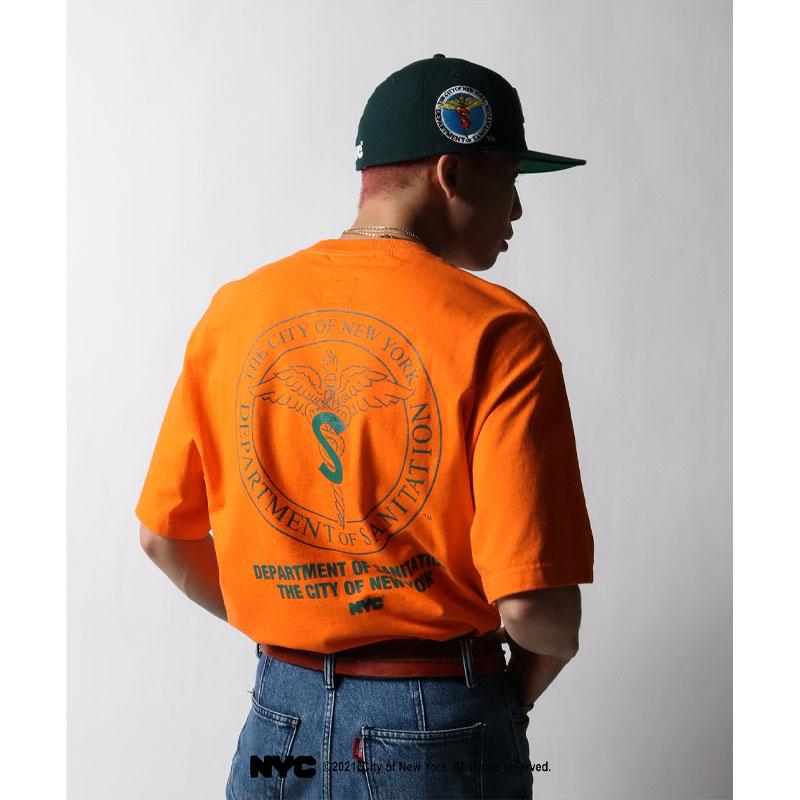 【21年限定モデル】【エルエフワイティー/NYC】【DSNY / NYC Department of Sanitation】Lafayette 21FA LFYTエルエフワイティー ファッション デイーエスエヌワイティ LFYT X DSNY COMMUNITY SERVICES TEE LE210113-ORG メンズTシャツ オレンジ