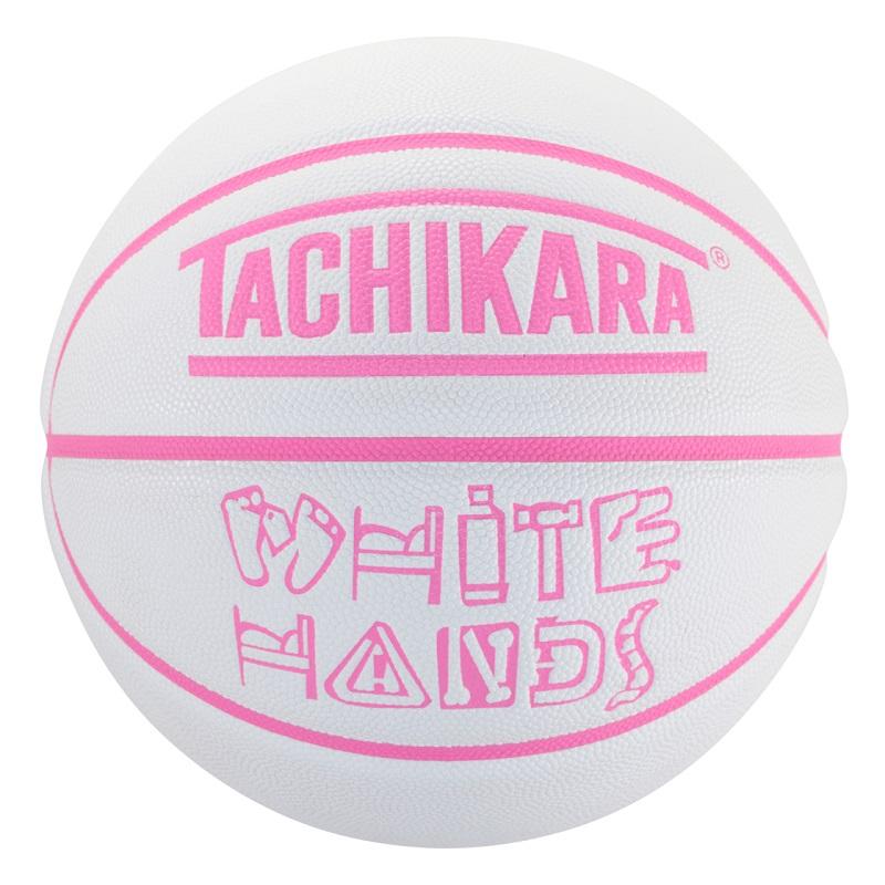 【6号球】【女性ボーラー】【バスケットボール】TACHIKARA BASKETBALL タチカラ ボール  ホワイトハンズ WHITE HANDS SB6-207 メンズ レディース キッズホワイト/ネオン ピンク ホワイト系