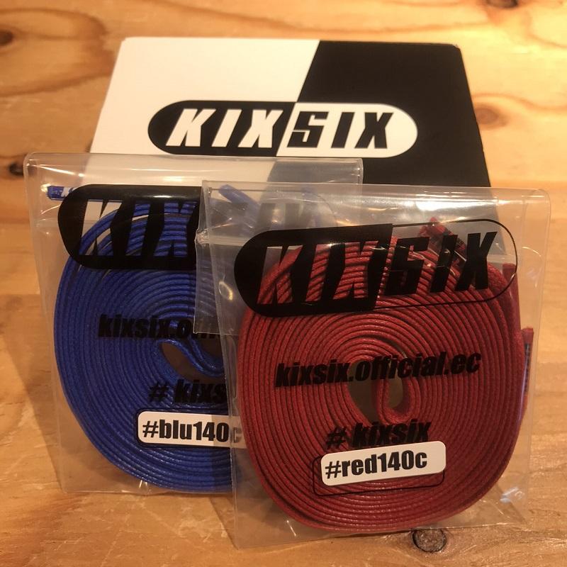 KIXSIX FA200725 キックスシックス ロゴ チップ ワックスド シューレス 2P ボックス RED-BLUE/Clear KX-01LTWS2B-RB