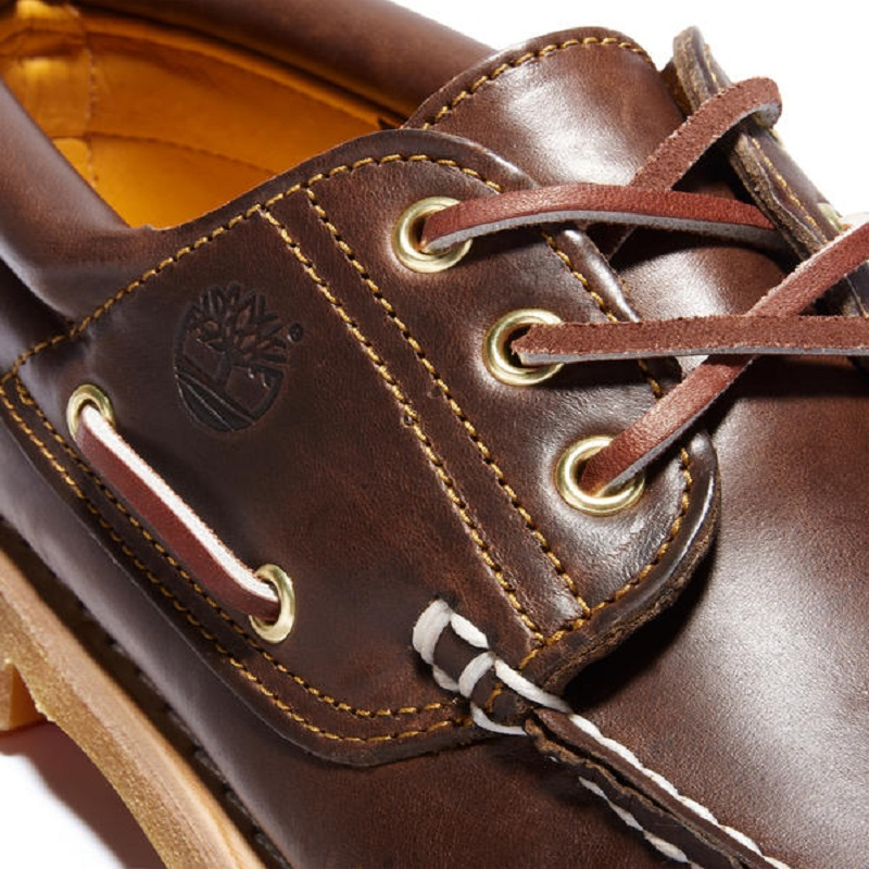 【定番モデル】ティンバーランド TIMBERLAND アイコン スリーアイ クラシックラグ HS 3 EYE LUG 30003 BROWN メンズ モカシン 革靴 ブラウン系
