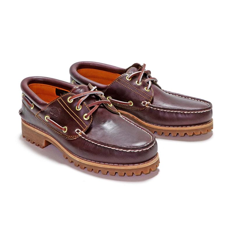 【定番モデル】ティンバーランド TIMBERLAND アイコン スリーアイ クラシックラグ HS 3 EYE LUG 50009 BURGUNDY メンズ モカシン 革靴 赤茶系