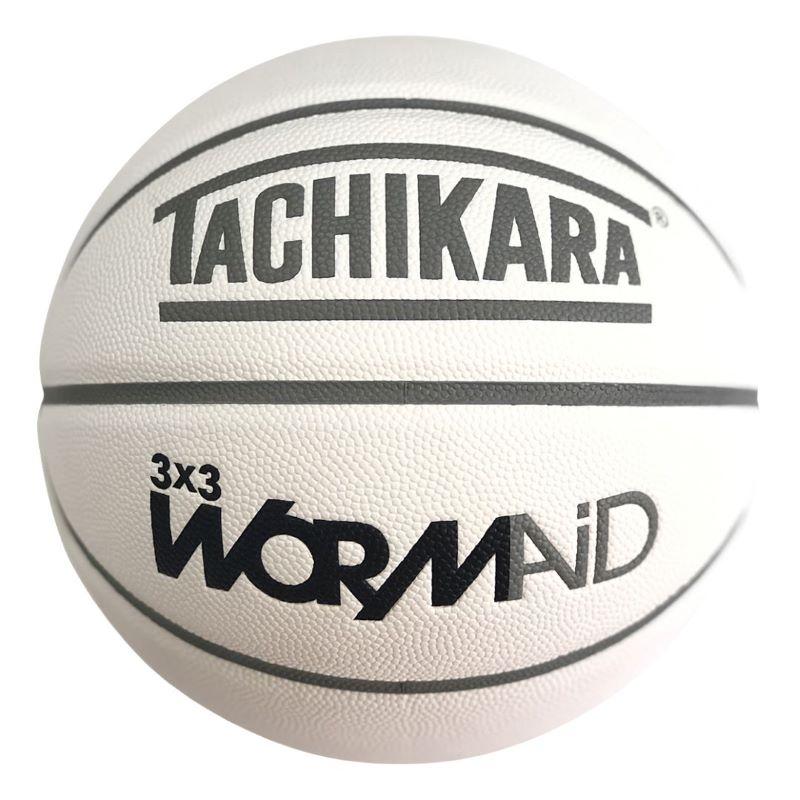 【6号球】【バスケットボール】TACHIKARA BASKETBALL タチカラ ボール ワームエイド  3x3 GAME BASKETBALL WORMAiD ワームエイド BALL × TACHIKARA CUSTOM 3x3正式規格(6号球サイズ×7号球重量) SB67-206 メンズ レディース キッズ ホワイト/グレー ホワイト系