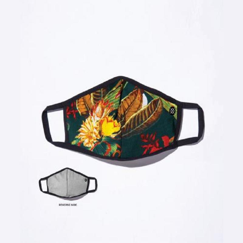 【定番モデル】【スタンスフェイスマスク】【リバーシブル/2WAY】STANCE 21 スタンス ファッション ゼカリア マスク ZECHARIA MASK AH01C20ZEC-GRN メンズアパレル グリーン ボタニカル柄 フェイスマスク