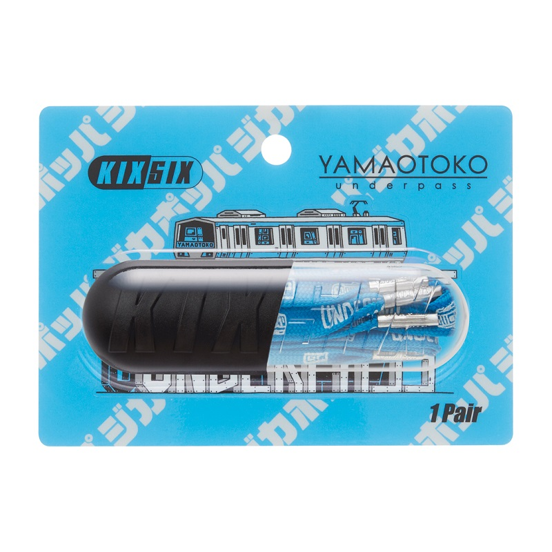 "KIXSIX Ghica Popa TRAIN SHOELACE CAPSULE -YAMAOTOKO- KEIHIN BLUE/Silver KX-01GPTSC-YU-KB キックスシックス ジカポッパ ""TO EVERYONE WHO LOVES SNEAKERS"""
