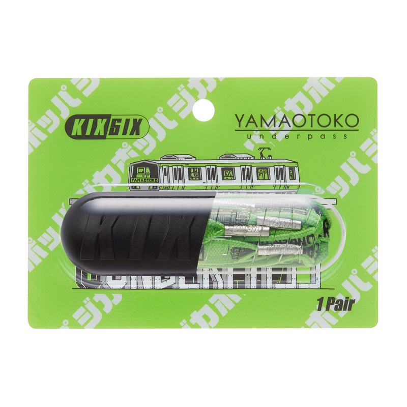 "KIXSIX Ghica Popa TRAIN SHOELACE CAPSULE -YAMAOTOKO- YAMANOTE GREEN/Silver KX-01GPTSC-YU-YG キックスシックス ジカポッパ ""TO EVERYONE WHO LOVES SNEAKERS"""