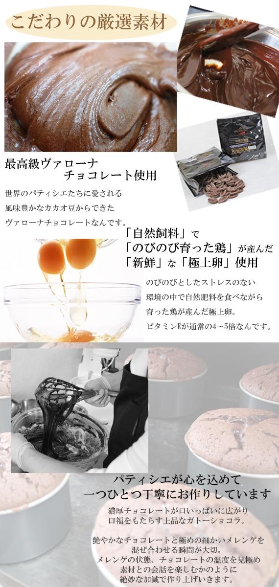 【大切な方への贈り物にも!】玉子職人の特選濃厚ガトーショコラ(18cm)