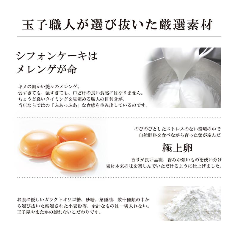 職人【はじまりセット】 (手焼玉子「職人造り」1本&シフォン3カット)