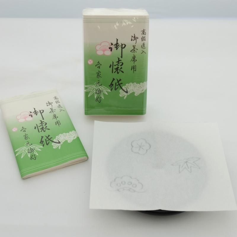 松竹梅透かし入り懐紙 (女性用・30枚入)