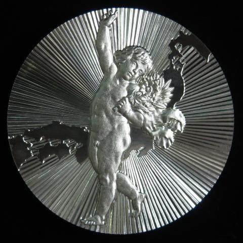 【銀メダル】 青函トンネル・瀬戸大橋開通記念貨幣発行記念 純銀メダル 1988年 造幣局製  (未使用)