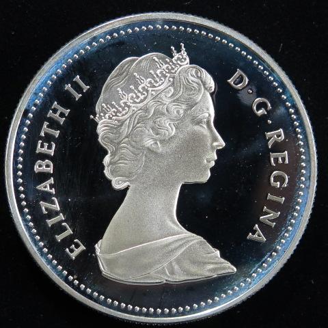 【外国銭】 カナダ レジャイナ市100年 1ドルプルーフ銀貨 1982年 (未使用)