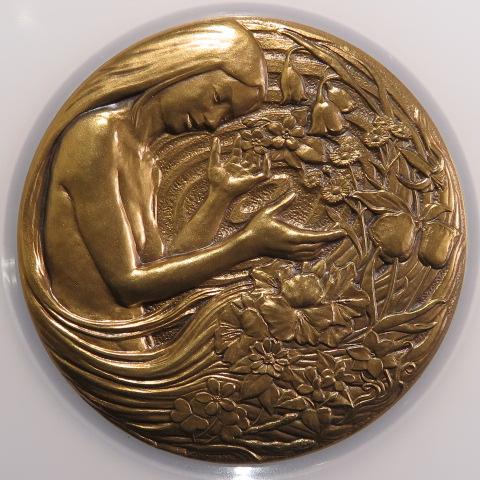 【銅メダル】  平成16年 桜の通り抜け 丹銅メダル 造幣局製 (未使用)