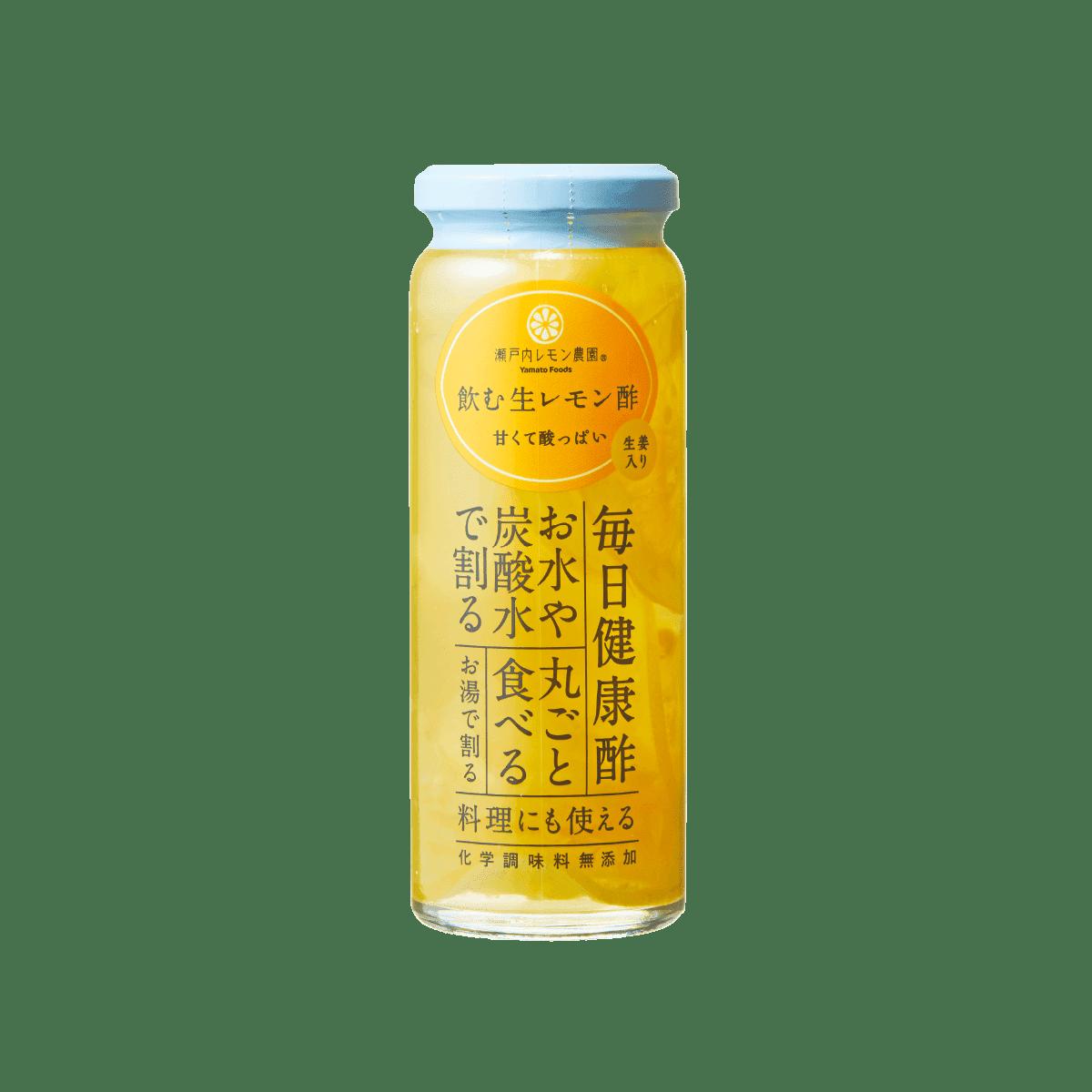 飲む生レモン酢「生姜入り」220g