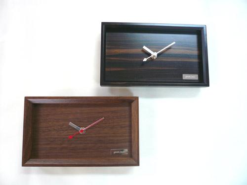 在庫処分60%OFF Nature wood Simple clock   黒檀  掛時計