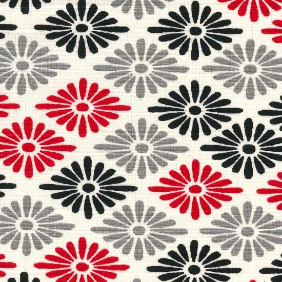手拭い/菊菱彩り/白赤・白青・赤・黒