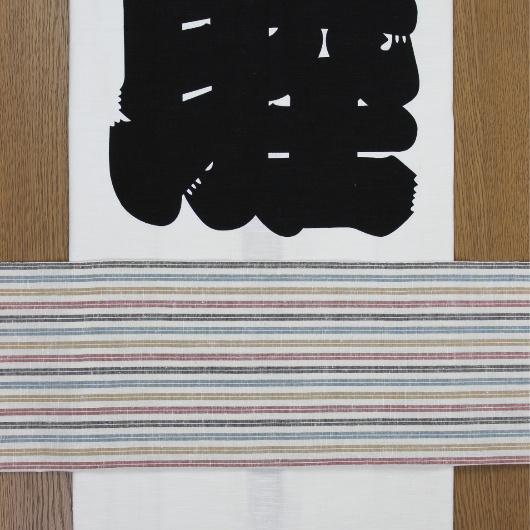 巻帯/遠州綿紬(白彩色)/大人用