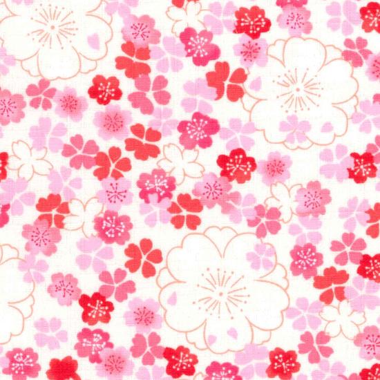手拭い/桜紋様/白・紫