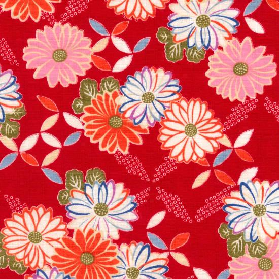 手拭い/五色菊/ピンク・赤・紺・黒
