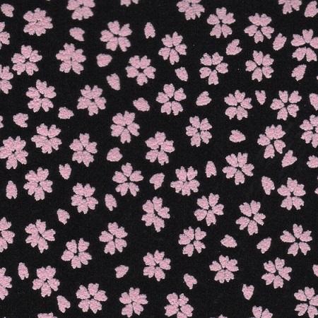 腰下げ巾着袋/印伝調「サクラ」〈ピンク〉