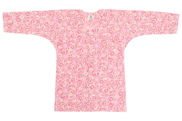 オリジナル鯉口シャツ【麻の葉桜】/ピンク/大人用S、M
