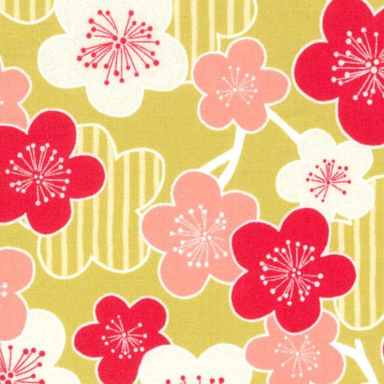子供用◆ オリジナル柄鯉口シャツ【縞梅】/黒・紺・黄緑・赤・白/1号〜7号