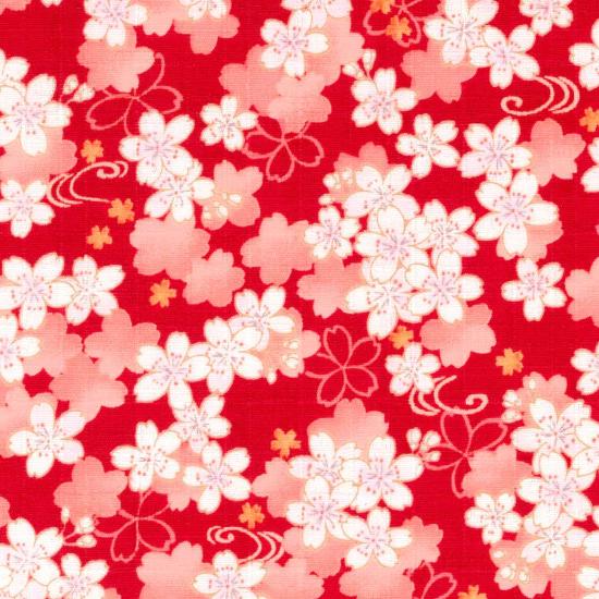 ポシェット〔大〕/鯉口柄 「薄桜(赤)」