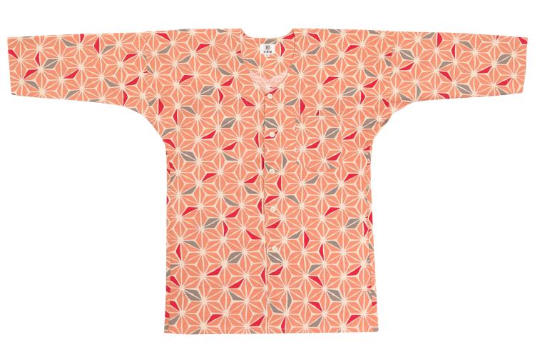 オリジナル鯉口シャツ【麻の葉彩り】/ピンク/大人用S〜LL
