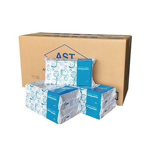 【送料無料 ペーパータオル】ASTタオルレギュラー200枚国産(1ケースより出荷可能)