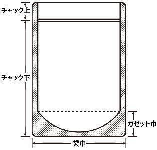 JXP0910 チャック付表透明裏アルミ 90×105+27 1,500枚