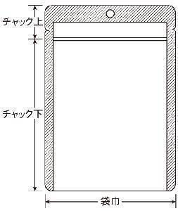 VCP-F チャック付表透明裏アルミ平 120×170 2,500枚