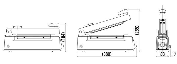 3050 カッター付きシーラーNL-202JC-5 白