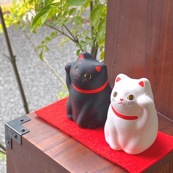 招き猫 開運 白黒ペア招き猫 開店祝い 贈り物