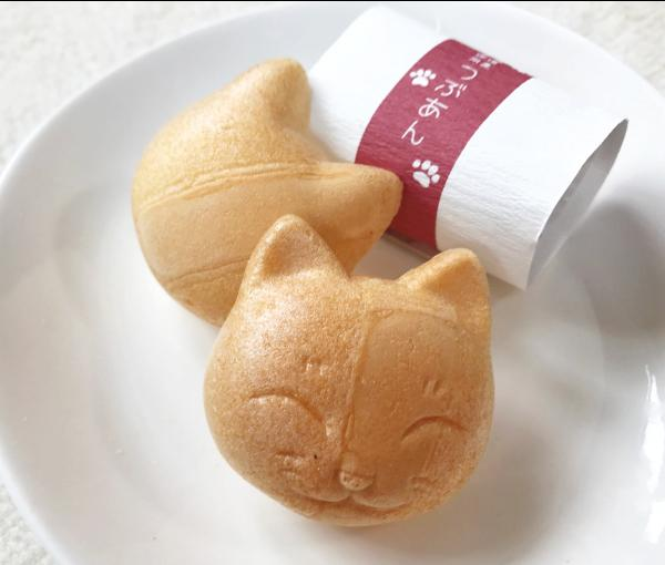 和菓子 猫 ねこ最中のはんかちセット 最中 猫谷中堂プレゼント 猫柄はんかち