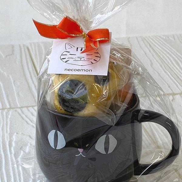 肉球マドレーヌ4種 黒猫マグカップ 焼き菓子詰め合わせ