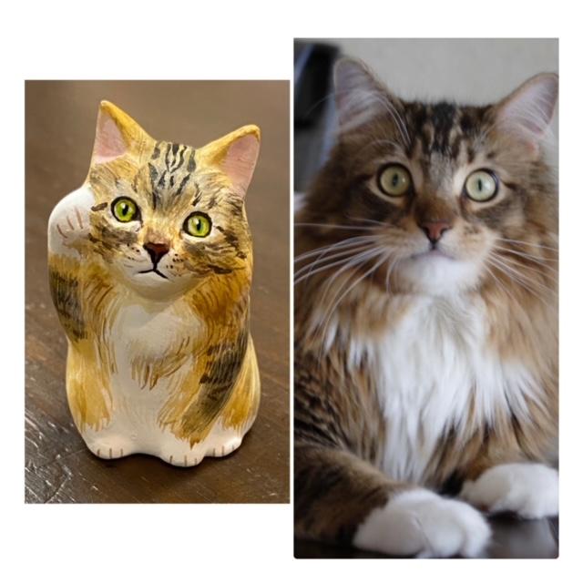 世界で一つだけ 『マイ招き猫』 金招き猫(右手あげ)