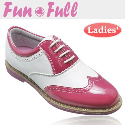 【訳あり品】 FunFull [ファンフル] スパイクレス レディース ゴルフシューズ FUN200 [ピンク]
