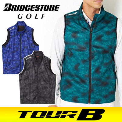 BRIDGESTONE GOLF [ブリヂストン ゴルフ] TOUR B 17AW メンズ 前開きベスト IGM01C