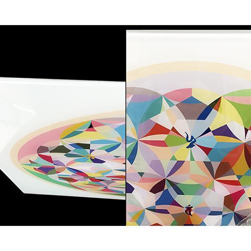 クスリエガラスパネル(大) ダイヤ