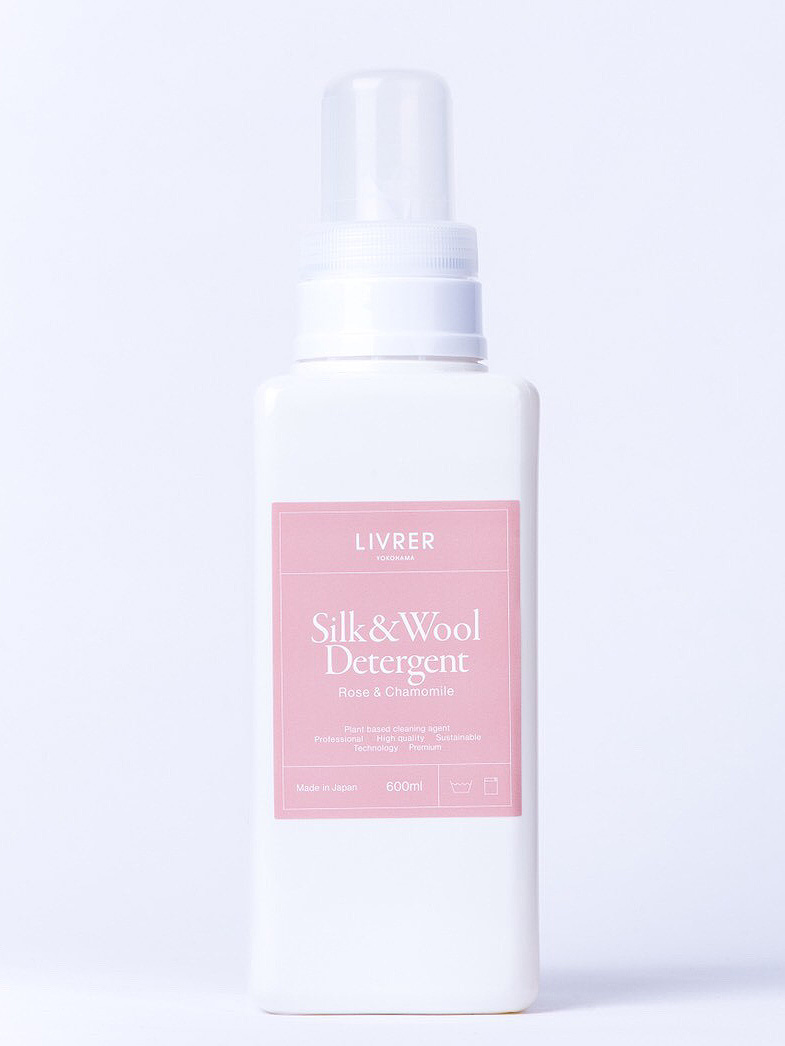 洗剤デリケート用洗剤シルク&ウール ローズ&カモミール/SILK&WOOL DELICATEWASH (600ml) -リブレ ヨコハマ・LIVRER YOKOHAMA-