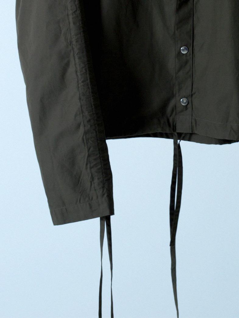 yaunn ブルゾンタイプ シャツ カーキ/COTTON JACKET LIKE SHIRT KHAKI