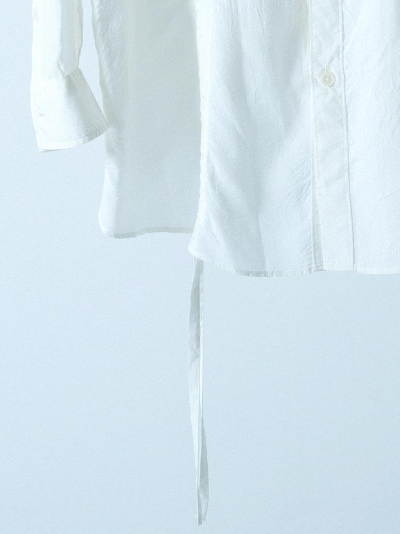 yaunn ドレープ シャツ 白/DRAPE SHIRT WHITE