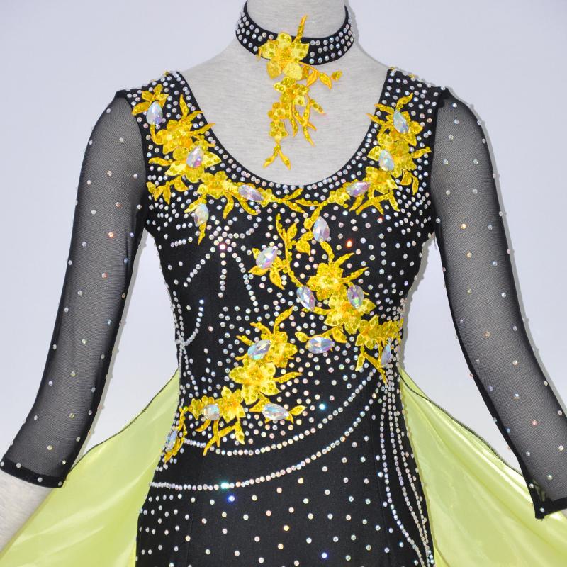 【オーダーメイド対応 】社交ダンスドレス・モダンドレス・ラテン衣装・競技用(ecsb0541)