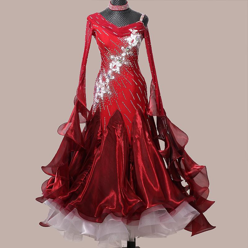 【オーダーメイド対応 】社交ダンスドレス・モダンドレス・ラテン衣装・競技用(ecsb0451)