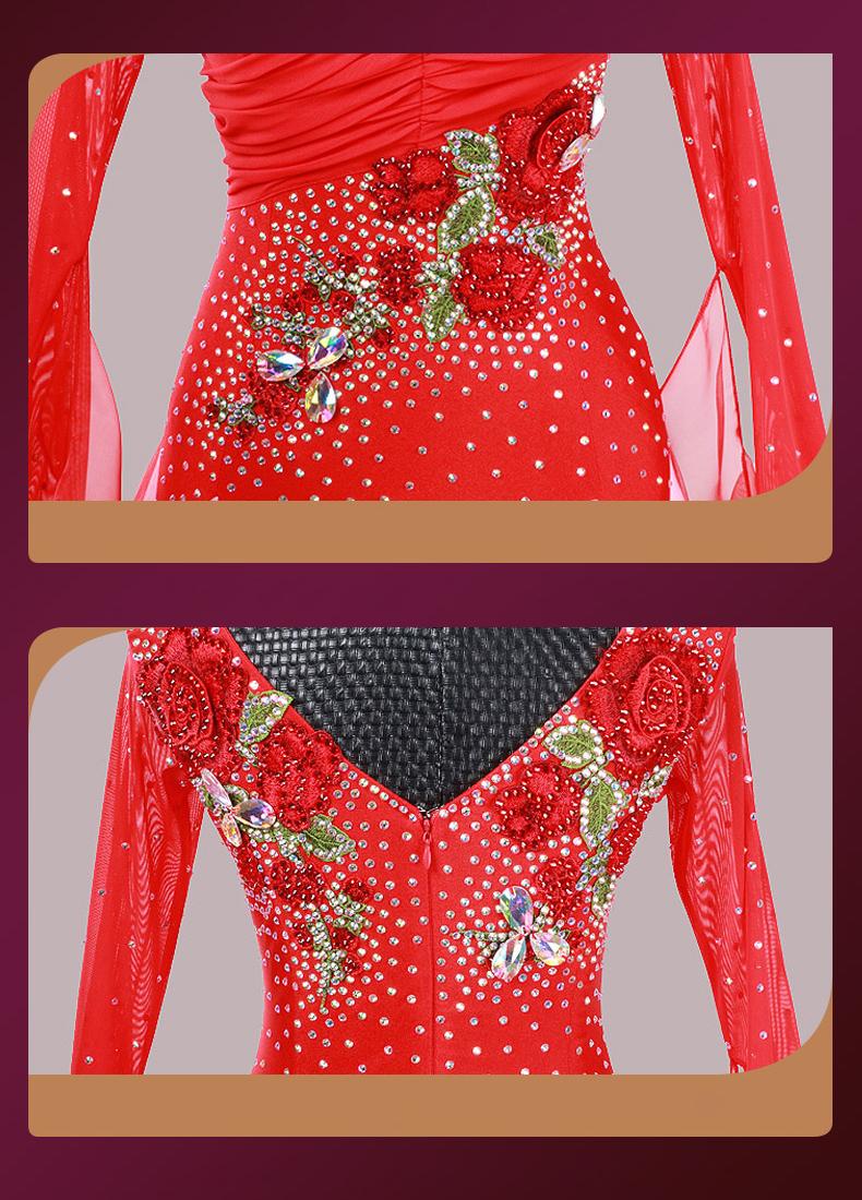 【オーダーメイド対応 】社交ダンスドレス・モダンドレス・ラテン衣装・競技用(ecsb0452)