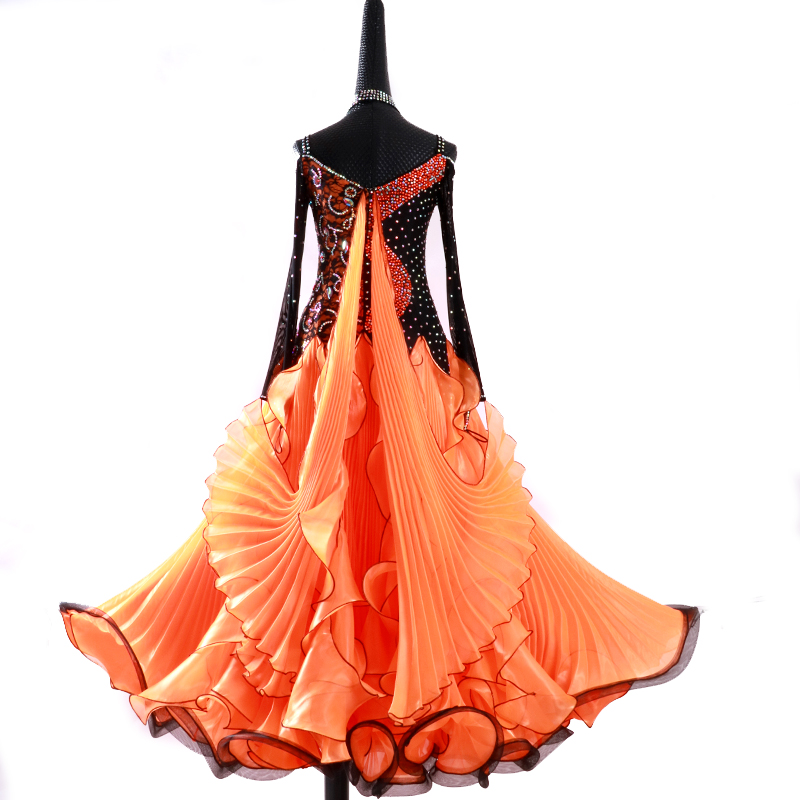 【オーダーメイド対応 】社交ダンスドレス・モダンドレス・ラテン衣装・競技用(ecsb0455)