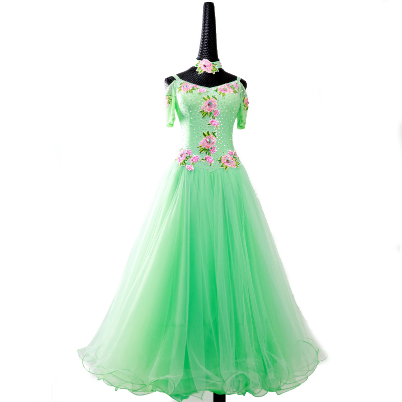【オーダーメイド対応 】社交ダンスドレス・モダンドレス・ラテン衣装・競技用(ecsb0460)