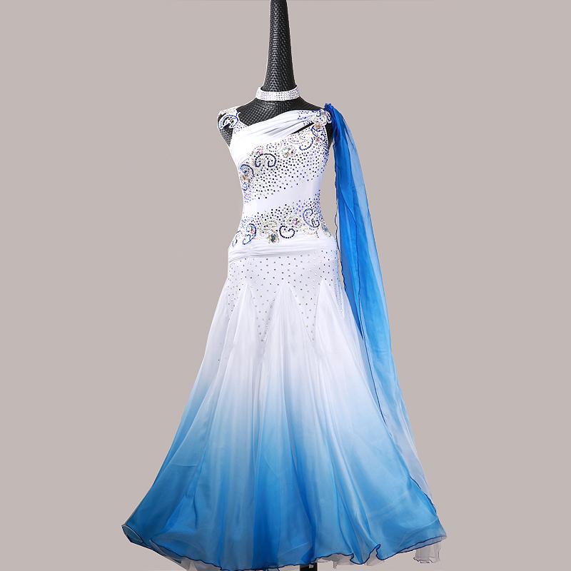 【オーダーメイド対応 】社交ダンスドレス・モダンドレス・ラテン衣装・競技用(ecsb0570)