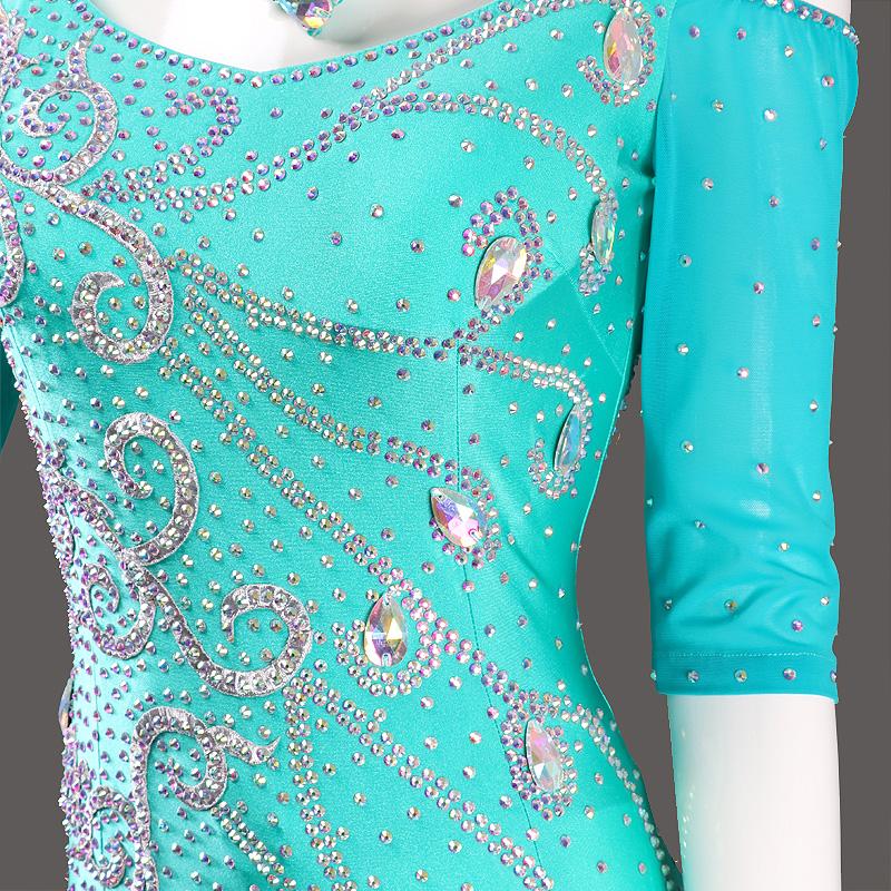【オーダーメイド対応 】社交ダンスドレス・モダンドレス・ラテン衣装・競技用(ecsb0572)