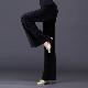 レディース 社交ダンスパンツ ベルベット 秋冬 ワイドパンツ 黒 ブラック シンプル 無地 大人 上品 キレイ かっこいい ダンスパンツ レッスン着 練習用 ロングパンツ ダンス大会 競技用 ワルツ タンゴ ラテンダンス 大きいサイズ ゆったり
